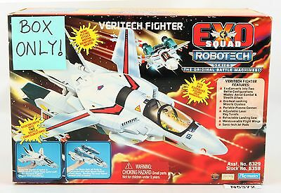 Playmates Vintage EXO Squad ROBOTECH Veritech Fighter BOX instruction sheet ONLY