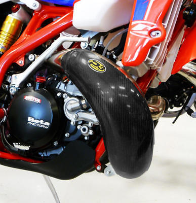 P3 Carbon Fiber Pipe Guard for Stock Pipe #109060 for Beta 250 RR 2T/300 RR 2T