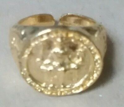 MAGNA CARTA King John Seal Ring in 22kt Gold on Fine Pewter