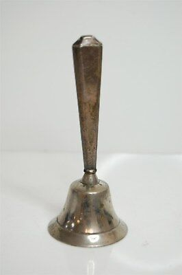 "Antique 4.5"" Solid Sterling Silver Handle Dinner Bell - 59g"