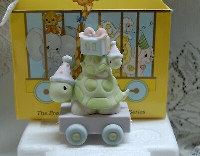 Precious Moments Birthday Train Series Turtles 11 Year Old With Box 1998
