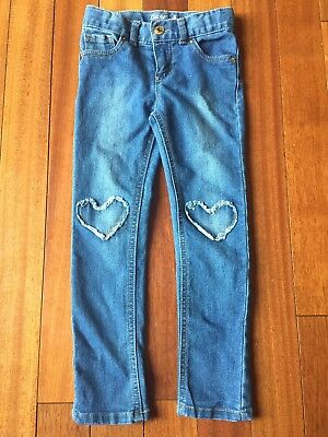 Cat & Jack Toddler Girls Skinny Jeans 5T Heart Patches