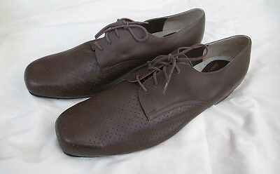 Magic Men's Ballroom Dance Shoes - Brown Perforated Leather - Size 12 1/2