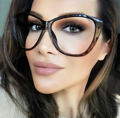 31bb09e518 Big XL Oversized Cat Eye WaYfe Fashion Clear Lens Large Eyeglasses Frames  3208 L