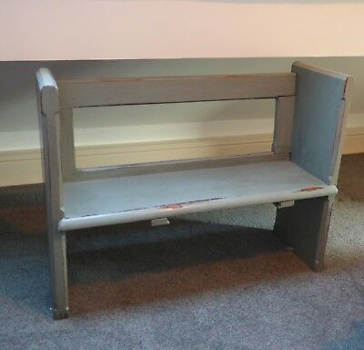 Old wooden Childrens Pew