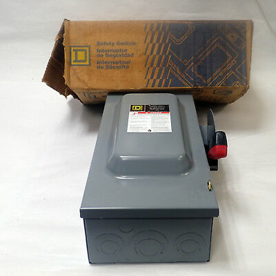 Schneider Square D Ch362 Heavy Duty Safety Switch Type 1 Enclosure General Purp.