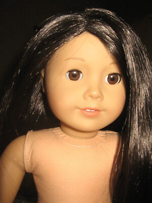 American Girl Doll Brunette Brown Eyes Just Like You Excellent Used Condition