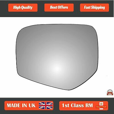 Right Driver Side Heated Mirror Glass for Fiat Fullback 2016-2019 0233RSH