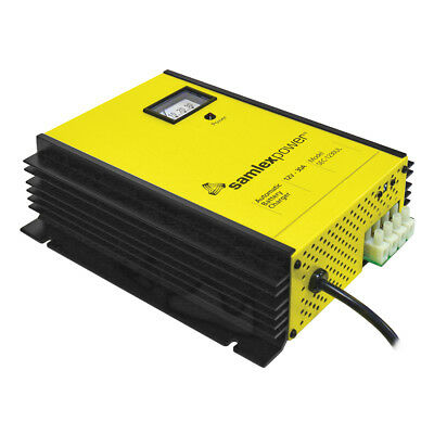 Samlex 30A Battery Charger 12V 3-Bank 3-Stage with Dip Switch Lugs SEC-1230UL