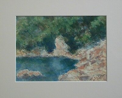 EUGENE WHITE - Impressionist Watercolor Landscape Painting - USA - 20th Century