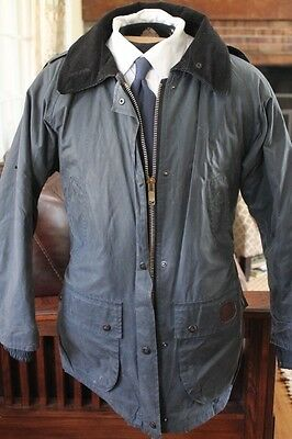 WAX ON WAX OFF Burberry RARE Barbour-style Waxed Cotton Outer Shell Rain Coat
