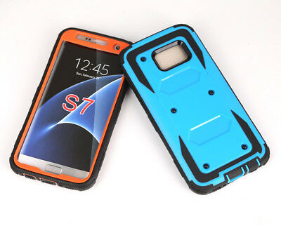 Samsung Galaxy S6/S7 Armor Shockproof Hybrid Otterbox Styled Screen Case Cover