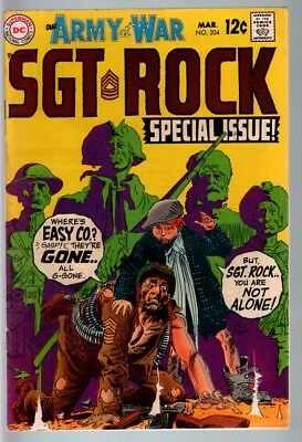 Our Army At War #204 1969-Dc War Comic-Sgt. Rock-Vg Vg