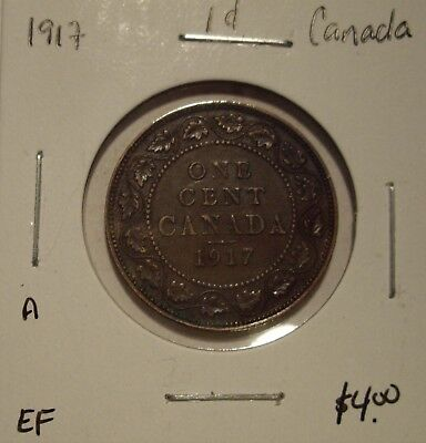 A Canada George V 1917 Large Cent - EF