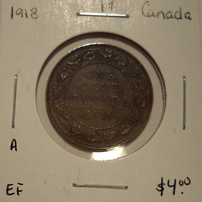 A Canada George V 1918 Large Cent - EF