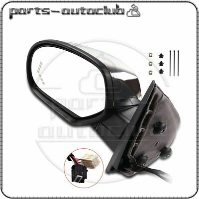 LH Side Power Memory Heated Chrome Signal Driver Side Mirror for 07-14 Chevy GMC