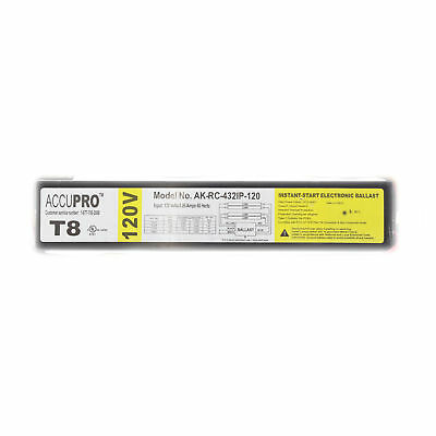 Accupro Ak-Rc-432Ip-120 Instant Electronic Ballast, 4-Lamp, F32T8, 32W T8, 120V