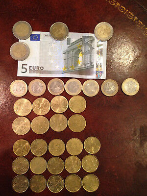 27.00€ Euros in Paper Currency and Coins. All Current and Spendable.