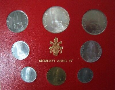1966 Vatican City Mint Coinage Set Uncirculated 8 Coin**  FREE U.S. SHIPPING  **