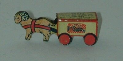Checkers Popcorn Confection Tin Goat Pulled Delivery Wagon 1920s Cracker Jack