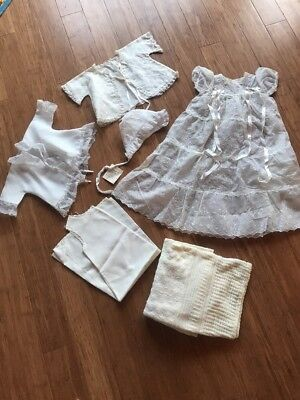vintage christening baby gown And Accessories