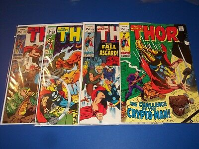 The Mighty Thor #174,175,176,177 Bronze age run of 4