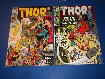The Mighty Thor #180,181 Bronze Age lot of 2 Neal Adams