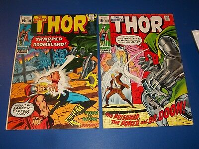 The Mighty Thor #182,183 Bronze Age lot of 2 Dr. Doom Wow