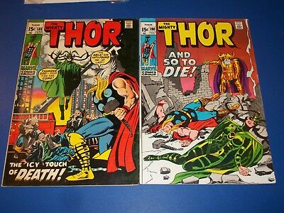 The Mighty Thor #189,190 Bronze age lot of 2 Fine-/Fine+ Hela