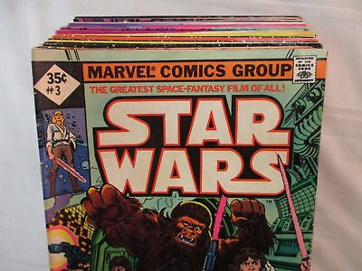 Lot Of 26 Marvel STAR WARS Comics #3-78 Bronze Age 1977-1983