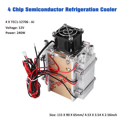 240W Semiconductor Refrigeration Radiator Thermoelectric Peltier Water Cooling E