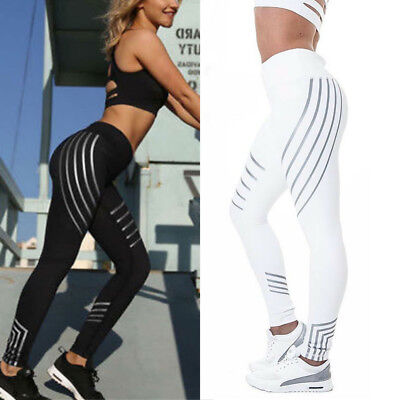 Women High Waist Yoga Leggings Fitness Trousers Stretch Pants Running Gym Sport