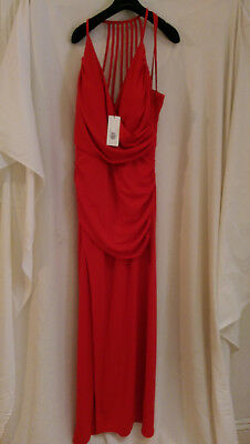 Lipsy London Red Formal Prom Maxi Evening Gown: Size 16