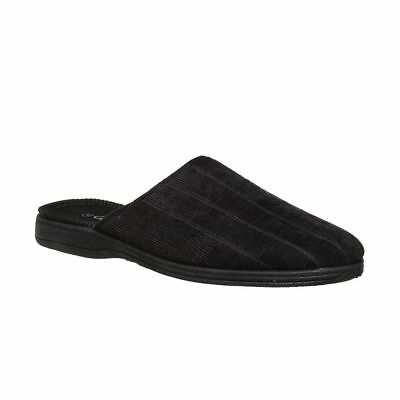 Mens Grosby TOD Black Slipper Scuffs Slip On Slippers Size 6 7 8 9 10 11 12