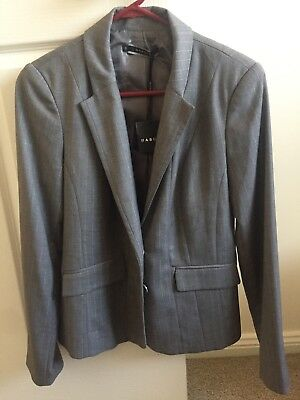 Basque Ladies New With Tags (nwt) Suit Work Jacket Blazer Grey Size 10
