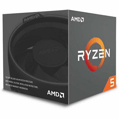 AMD Ryzen 5 AM4 2600 Processor 16 MB Cache 3.4 GHz 6 Core 12 Thread Desktop CPU