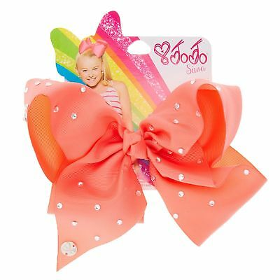 Official JoJo Siwa Large Rhinestone Pink Signature Hair Bow - Brand New