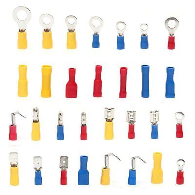 Insulated Electrical Connectors Wire Crimp Terminals Spade Assorted Kits 720Pcs