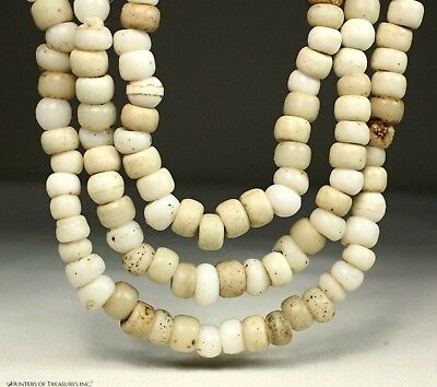 68) Native American White Padre Old Trade Beads Indian Artifact Oregon
