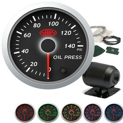 SAAS streetline Oil Pressure Gauge 0-140psi 52mm