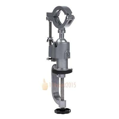 360º Rotating Clamp-On Bench Vise Grinder Holder Drill Stand For Drill Rotary AU