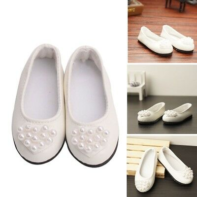 Style 18inch American Girl Doll white shoes for American Doll Accessories Hot