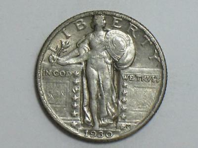 1930 Standing Liberty Quarter - Us Silver Coin