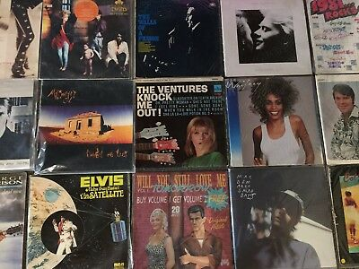 BULK LOT - Collection of 15 LP's (16 Records) MIDNIGHT OIL, ELVIS, M DEMARCO