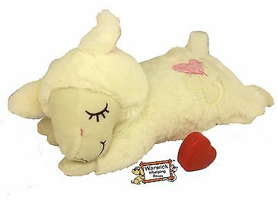 """Comforter Puppy Dog Calming Toy """"Real Feel"""" Heart beat Plush Teddy Whelping"""