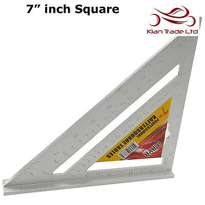 """7"""" inch Square Measure Right Angle Roofer Angle Saw Table Guide Triangle Ruler"""