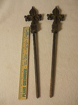 Antique Cast Iron Finials Topper/Fence Finials Topper (2)-WITH Posts