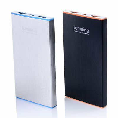 Lumsing 6000mAh Dual USB 2.1A & 1A Power Bank Portable Battery Charger For Phone