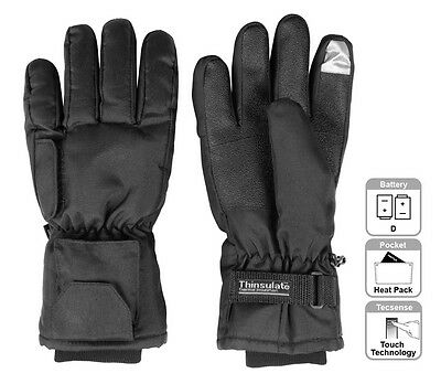 Battery Heated Gloves Thermal Insulated Mens Ladies Winter Electric Touchscreen