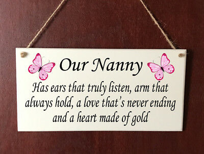Personalised DELUXE Plaque Sister Mum Auntie Nanny Nanna Nan Mother's Day Gift